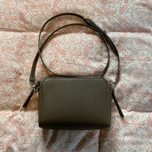 Old Navy Faux Leather Crossbody Bag Taupe